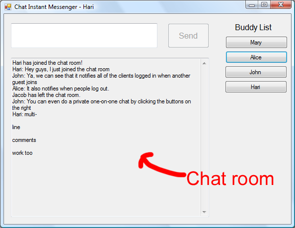 one line chat room