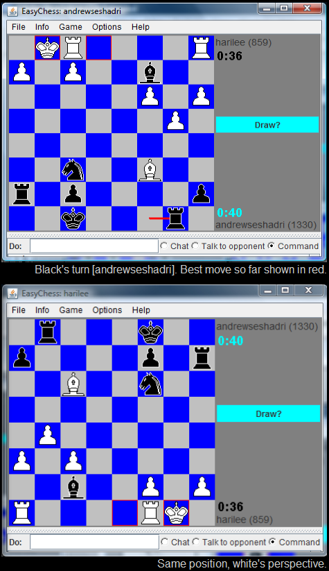 Chess program screenshots